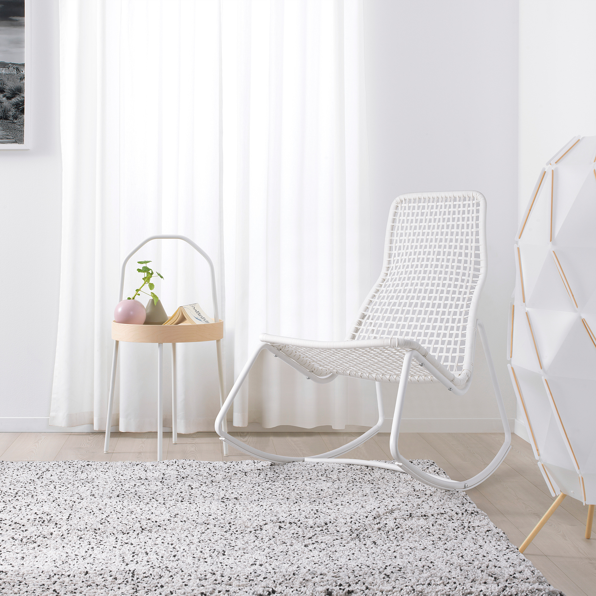 Gubbon Rocking Chair In Outdoor White Ikea Indonesia